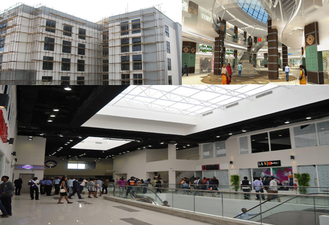 Converting an Office Complex to an Enveloped Shopping Mall